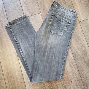 Silver Monica Skinny Jeans, 29x33